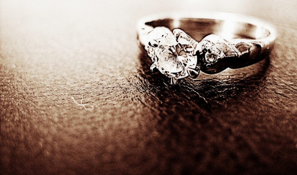 Cool custom engagement ring