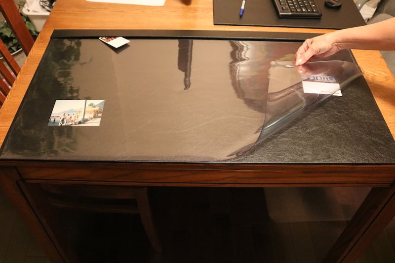 clear overlay desk pad