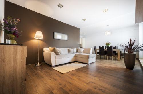 Modern Living Room Smooth Ceilings